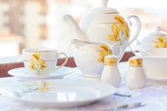 Elagant Tea Set Stock Images