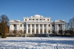 Elagin Palace in winter Stock Images