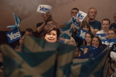 Elaine C Smith Scottish Indy Ref 2014 Stock Afbeelding
