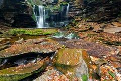 Elakala-Fälle - Canaan Valley, West Virginia Stockfotos