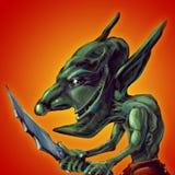 elakt troll stock illustrationer