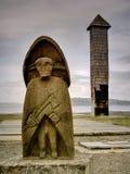 elakt trollskulptur Arkivbilder