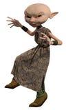 Elakt trolltjänare Girl som smyga sig Royaltyfri Bild