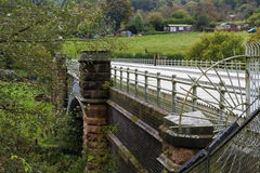 Elan aqueduct as it crosses the river Severn. Royalty Free Stock Photography
