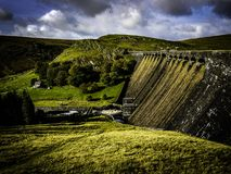 Elan valley dams Royalty Free Stock Photography