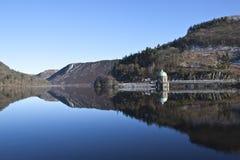 Elan Valley, Rhayader, Powys. The dams at Elan Valley, Rhayader, Powys Stock Images