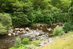 The Elan valley in the summertime of Wales, UK. Royalty Free Stock Images