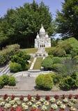 Elancourt F, 7月16日:Basilique从巴黎的Sacre Coeur纪念碑公园的微型再生产的从法国的 库存照片
