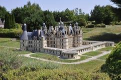 Elancourt f, 16-ое июля: Замок de Chambord в миниатюрном воспроизводстве памятников паркует от Франции Стоковое Изображение