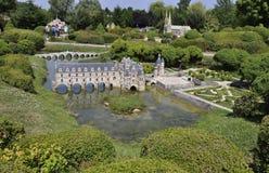 Elancourt f, 16-ое июля: Замок de Chenonceau в миниатюрном воспроизводстве памятников паркует от Франции Стоковые Изображения