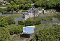 Elancourt f, 16-ое июля: Замок de Chenonceau в миниатюрном воспроизводстве памятников паркует от Франции Стоковые Изображения RF