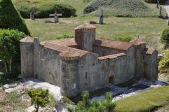 Elancourt f, 16-ое июля: Замок de Montmaur в миниатюрном воспроизводстве памятников паркует от Франции Стоковое Изображение