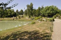Elancourt f, 16-ое июля: Ландшафт в миниатюрном воспроизводстве парка памятников от Франции Стоковые Изображения RF