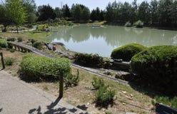 Elancourt f, 16-ое июля: Ландшафт в миниатюрном воспроизводстве парка памятников от Франции Стоковая Фотография RF