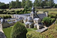Elancourt F, 16 Juli: Chateau D ` azay-le-Rideau in de Miniatuurreproductie van Monumentenpark van Frankrijk Royalty-vrije Stock Foto