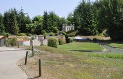 Elancourt F, 16 Juli: De mening van Lyon in de Miniatuurreproductie van Monumentenpark van Frankrijk Stock Afbeeldingen