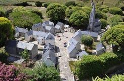 Elancourt F, 16 Juli: Dorp Breton in de Miniatuurreproductie van Monumentenpark van Frankrijk Royalty-vrije Stock Foto's