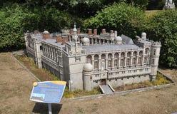 Elancourt F, 16 Juli: Heilige Germain Engelse Laye in de Miniatuurreproductie van Monumentenpark van Frankrijk Stock Afbeeldingen