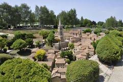 Elancourt F, am 16. Juli: Historische Stadt in der Miniaturwiedergabe des Monument-Parks von Frankreich Stockfoto