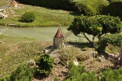 Elancourt F, am 16. Juli: Mühle in der Miniaturwiedergabe des Monument-Parks von Frankreich Lizenzfreies Stockfoto
