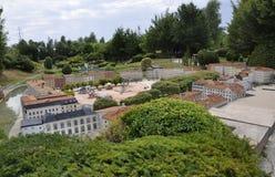 Elancourt F, 16 Juli: Plaats Bellecour Lyon in de Miniatuurreproductie van Monumentenpark van Frankrijk Stock Foto