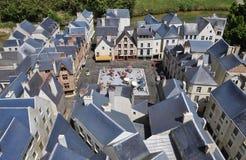 Elancourt F, 16 Juli: Plaats Plumereau Reizen in de Miniatuurreproductie van Monumentenpark van Frankrijk Royalty-vrije Stock Afbeelding