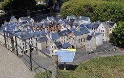Elancourt F, 16 Juli: Plaats Plumereau Reizen in de Miniatuurreproductie van Monumentenpark van Frankrijk Royalty-vrije Stock Afbeeldingen