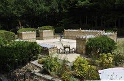 Elancourt F, 16 Juli: Plaats Stanislas de Nancy-Lorraine in de Miniatuurreproductie van Monumentenpark van Frankrijk Royalty-vrije Stock Fotografie