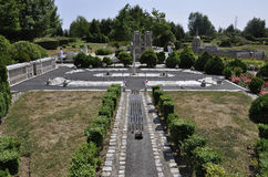 Elancourt F, am 16. Juli: Place de la Concorde von Paris in der Miniaturwiedergabe des Monument-Parks von Frankreich Lizenzfreies Stockbild