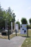 Elancourt F, am 16. Juli: Raum-Mitte in der Miniaturwiedergabe des Monument-Parks von Frankreich Stockfotos