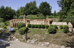Elancourt F,July 16th: Abbaye de Saint-Antoine in the Miniature Reproduction of Monuments Park from France stock images
