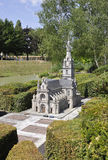 Elancourt F,July 16th: Basilique Sainte Anne d-Auray in the Miniature Reproduction of Monuments Park from France stock images