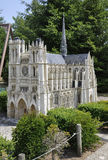 Elancourt F,July 16th: Cathedrale D`Amiens in the Miniature Reproduction of Monuments Park from France. Cathedrale D`Amiens in the Miniature Reproduction of stock image