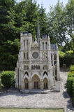 Elancourt F,July 16th: Cathedrale D`Amiens in the Miniature Reproduction of Monuments Park from France. Cathedrale D`Amiens in the Miniature Reproduction of royalty free stock photo