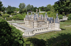 Elancourt F,July 16th: Chateau de Chambord in the Miniature Reproduction of Monuments Park from France stock images