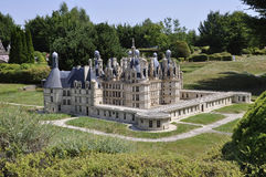 Elancourt F,July 16th: Chateau de Chambord in the Miniature Reproduction of Monuments Park from France stock image