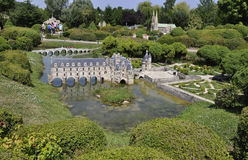 Elancourt F,July 16th: Chateau de Chenonceau in the Miniature Reproduction of Monuments Park from France stock images