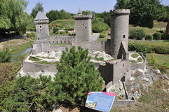 Elancourt F,July 16th: Chateau de Foix in the Miniature Reproduction of Monuments Park from France royalty free stock images