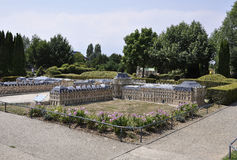 Elancourt F,July 16th: Chateau de Versailles in the the Miniature Reproduction of Monuments Park from France. Chateau de Versailles in the Miniature Reproduction stock photos