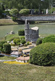 Elancourt F,July 16th: Eglise Notre Dame de Royan  in the Miniature Reproduction of Monuments Park from France Stock Photos
