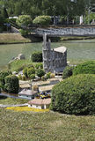 Elancourt F,July 16th: Eglise Notre Dame de Royan  in the Miniature Reproduction of Monuments Park from France Stock Image