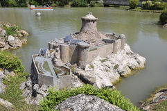 Elancourt F,July 16th: Fort La Latte in the Miniature Reproduction of Monuments Park from France. Fort la latte in the Miniature Reproduction of Monuments Park royalty free stock photography