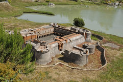 Elancourt F,July 16th: Forteresse de Salse in the Miniature Reproduction of Monuments Park from France Royalty Free Stock Image