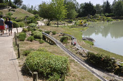 Elancourt F,July 16th: La Corse isle in the Miniature Reproduction of Monuments Park from France stock image