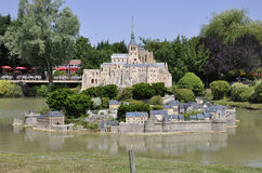 Elancourt F,July 16th: Mont Saint Michel in the Miniature Reproduction of Monuments Park from France Stock Photo