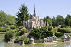 Elancourt F,July 16th: Mont Saint Michel in the Miniature Reproduction of Monuments Park from France Stock Photos