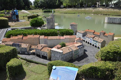 Elancourt F,July 16th: Port de la Rochelle in the the Miniature Reproduction of Monuments Park from France. Port de la Rochelle in the Miniature Reproduction of royalty free stock photos