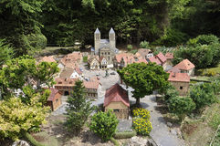 Elancourt F,July 16th: Village Alsacien in the Miniature Reproduction of Monuments Park from France stock photography