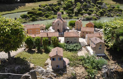 Elancourt F,July 16th: Village de Provence in the the Miniature Reproduction of Monuments Park from France. Village de Provence in the Miniature Reproduction of royalty free stock photography