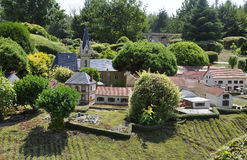 Elancourt F,July 16th: Village in the Miniature Reproduction of Monuments Park from France stock photography
